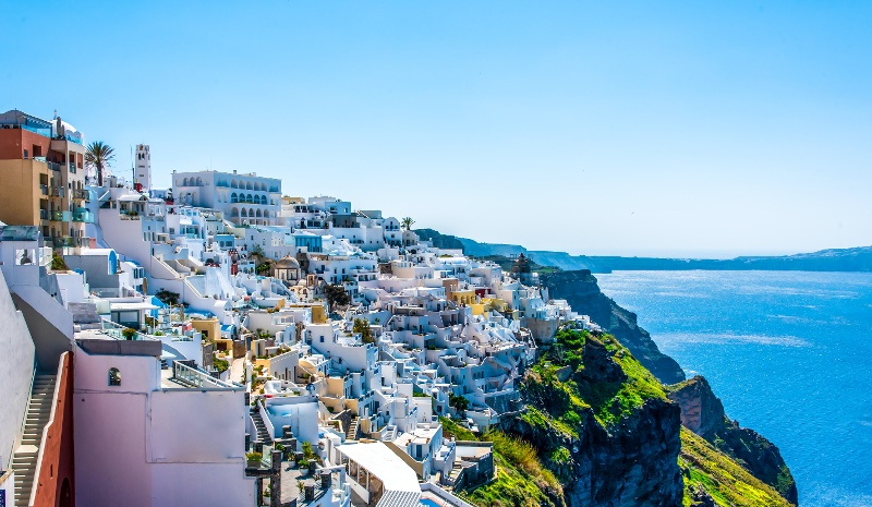 Santorini Fira Greek island