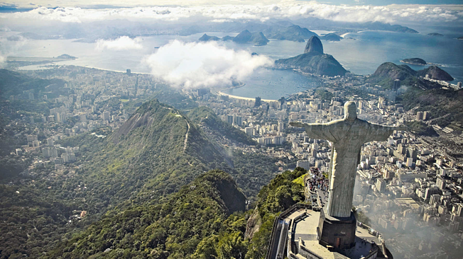 Rio De Janeiro overlook beautiful