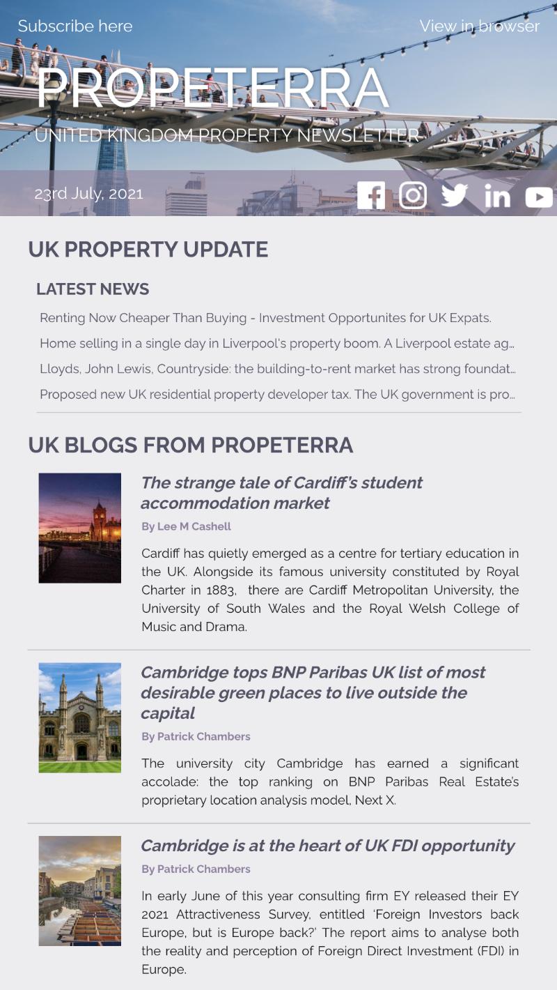 UK Property Newsletter July