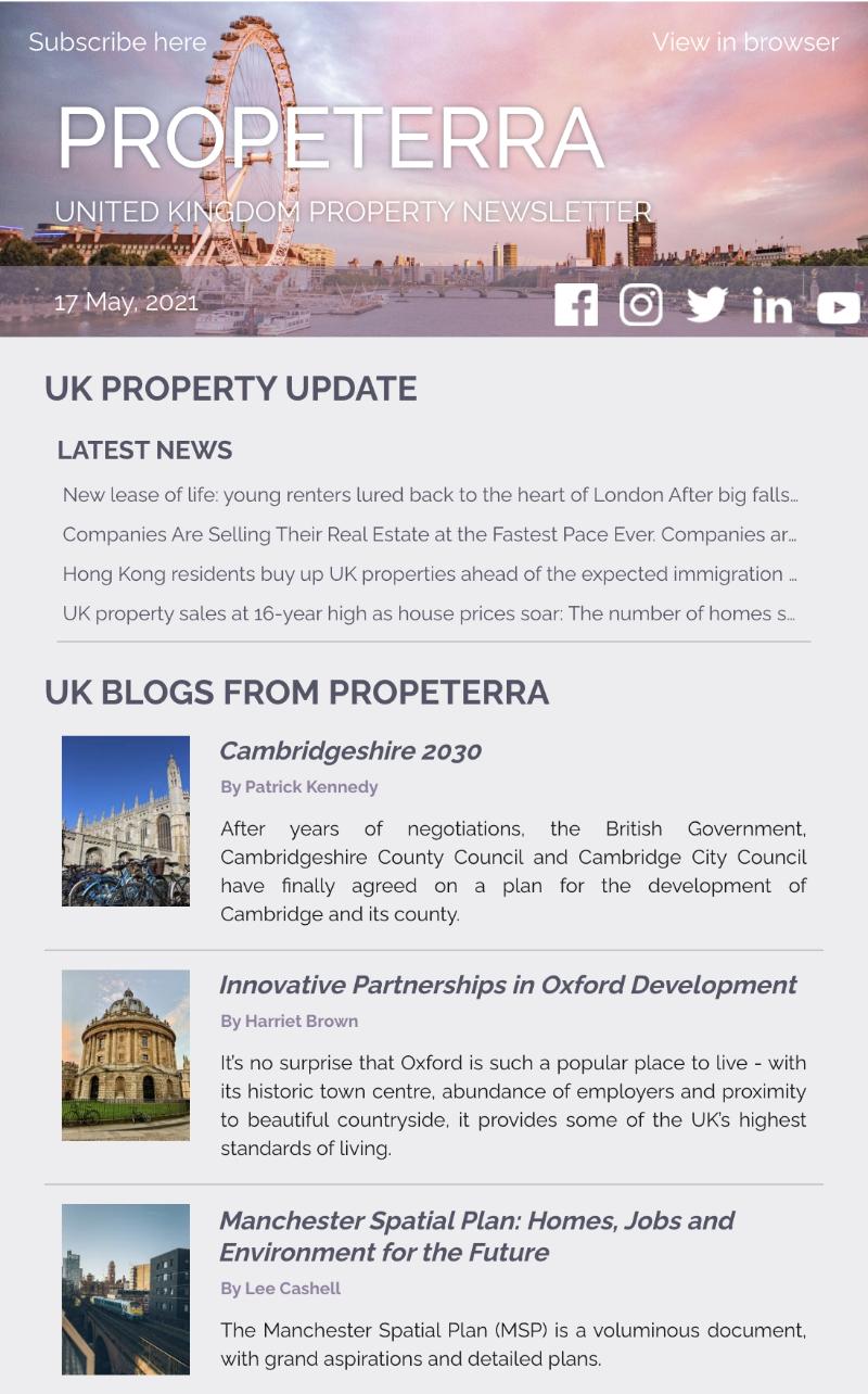 UK Property Newsletter May