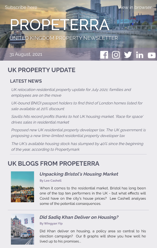 UK Property Newsletter August