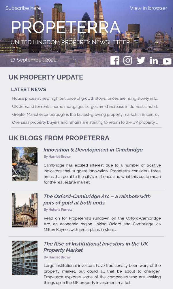 UK Property Newsletter Sep