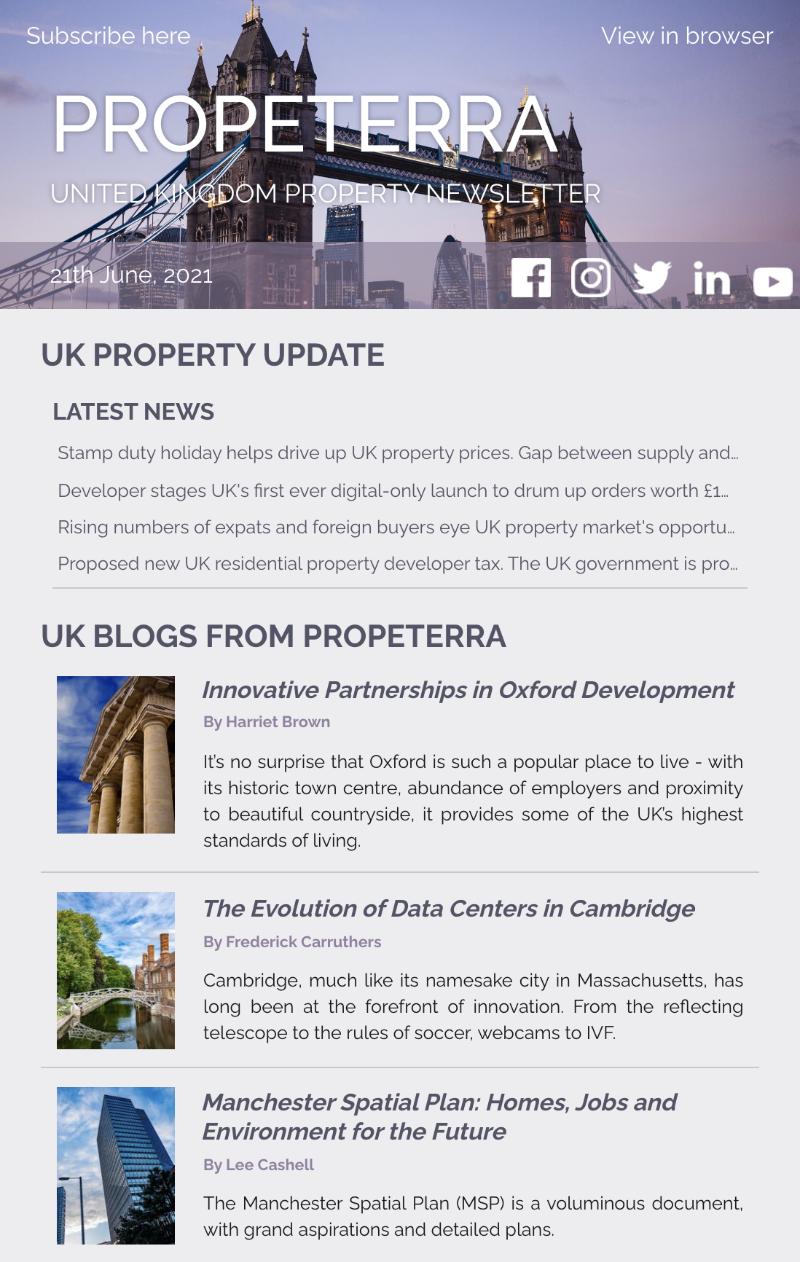 UK Property Newsletter June