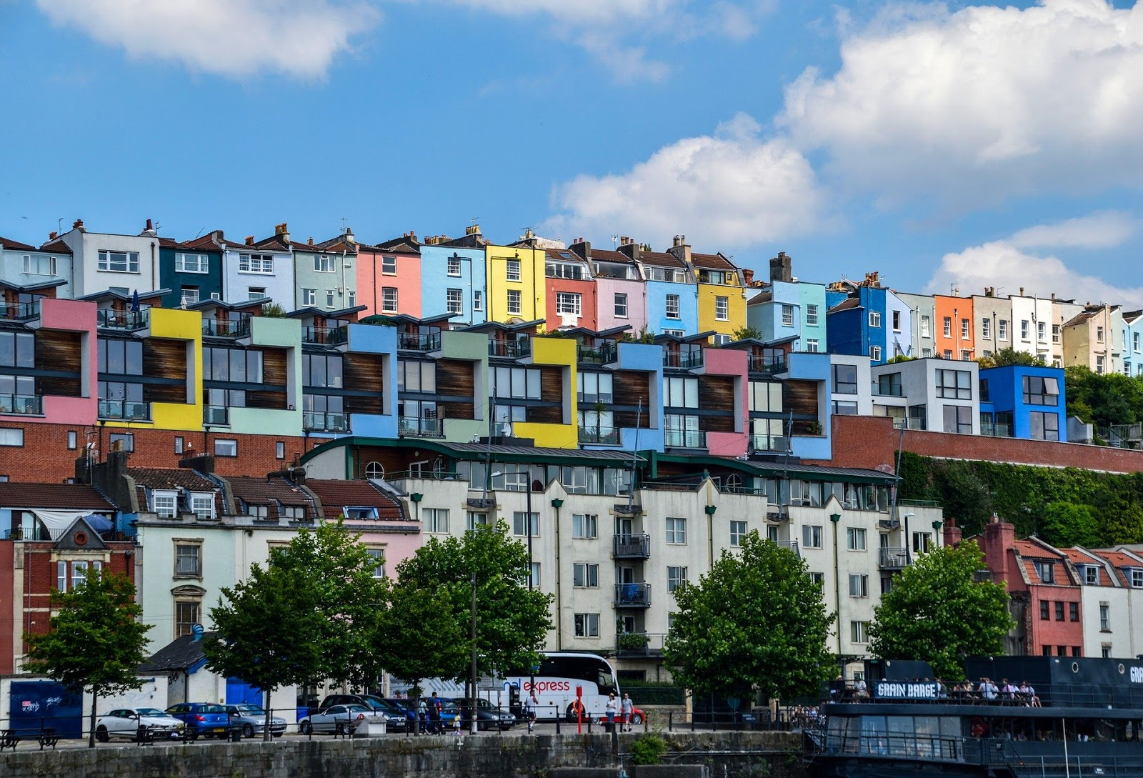 Colourful terraces in Totterdown