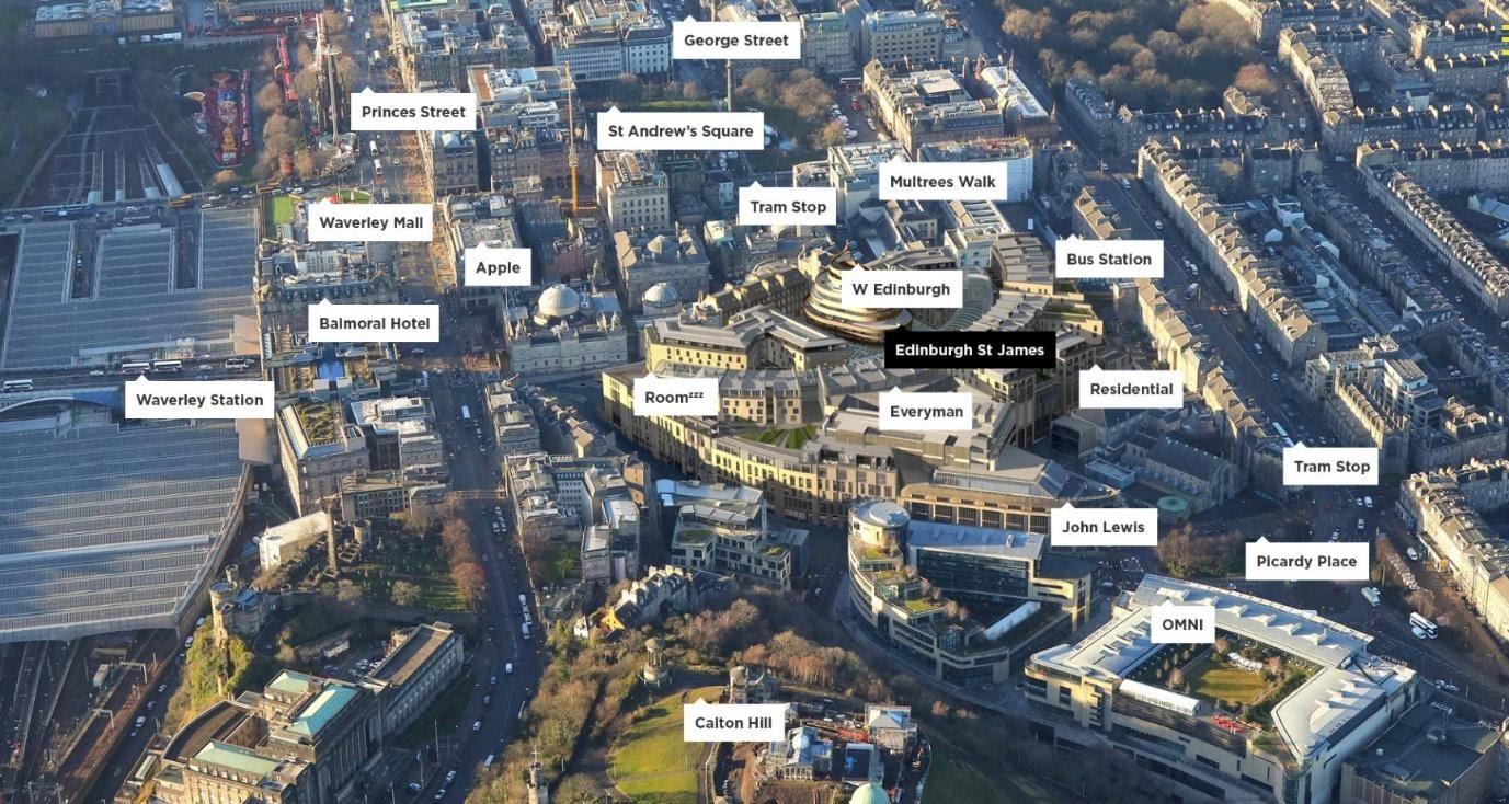St james development in Edinburgh